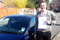 Adam had driving lessons with mitchells female driving school in Haughten Green, Denton, Tameside.