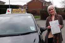 Chloe had driving lessons in Dukinfield.