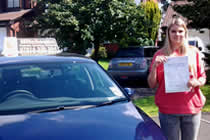 Chloe had driving lessons with mitchells female driving school in Dukinfield, Tameside.