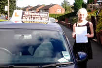 Danika had driving lessons with mitchells female driving school in Droylsden, Tameside.