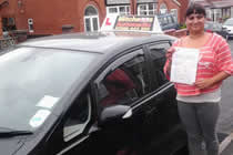 Dharmishtha Passed his driving test after taking Driving Lessons in oldham with pauline