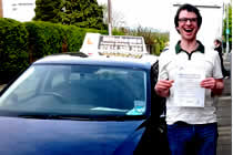Howard had driving lessons with mitchells female driving school in Droylsden, Tameside.