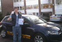 James had driving lessons with mitchells female driving school in hyde, Tameside.