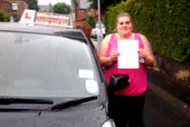 Linzi had driving lessons with mitchells female driving school in Droylsden, Tameside.