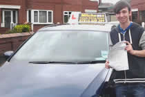 Lloyd had driving lessons with mitchells female driving school in Droylsden, Tameside.