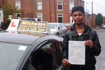 Abu had driving lessons in oldham