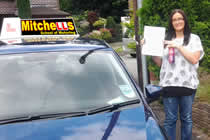Roxanne Passed her driving test after taking Female Driving Lessons in Didsbury Stockport with pauline, Female Driving Instructor