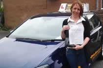 Sam had driving lessons with mitchells female driving school in Denton, Tameside.