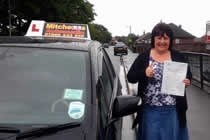 Sharon Passed her driving test after taking Driving Lessons in Shaw, oldham with pauline