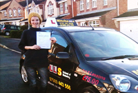 Suzane Passed her driving test in stalybridge, tameside with Pauline, female driving instructor.