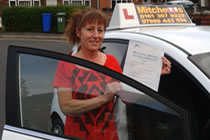Tina had driving lessons with mitchells female driving school in Droylsden, Tameside.