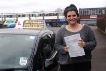 Vanessa had driving lessons in oldham