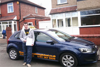 Chris had driving lessons with mitchells female driving school in Droylsden, Tameside.