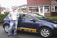 Craig had driving lessons with mitchells female driving school in denton, Tameside.
