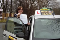 Emma Passed her driving test after taking Driving Lessons in chadderton oldham with pauline