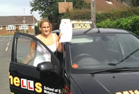 Sam Passed her driving test after taking Driving Lessons in Denton, tameside with pauline