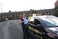 Holly Passed her driving test after taking Driving Lessons in Dukinfield, tameside with pauline