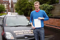 Gregor Passed his driving test after taking Driving Lessons in stockport with pauline Clayton, Female Driving Instructor