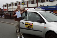 dennis Passed his driving test after taking Driving Lessons in oldham with pauline