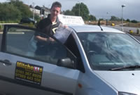 Simom Passed his driving test after taking Driving Lessons in Stockport with pauline, female driving instructor