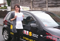 kirsty Passed her driving test in Ashton, tameside with Pauline, female driving instructor.