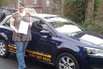 Michelle had driving lessons with mitchells female driving school in Dukinfield, Tameside.